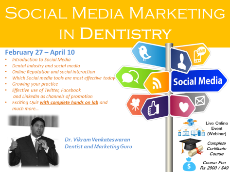Social Media Marketing in Dentistry Course with Live Hands